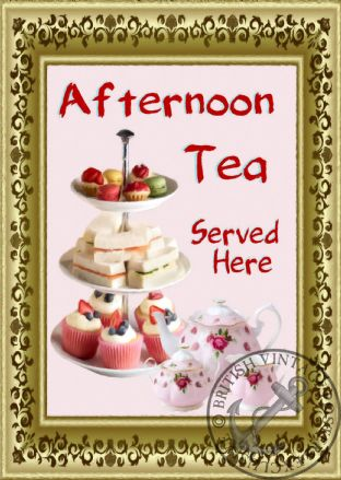 Cafe Afternoon Tea Sign